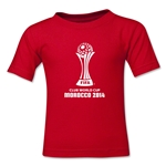 FIFA Club World Cup Morocco 2014 Kids Official Emblem T-Shirt (Red)