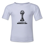 FIFA Club World Cup Morocco 2014 Kids Official Emblem T-Shirt (White)