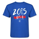 USA FIFA Women's World Cup Champions Kids T-Shirt (Royal)