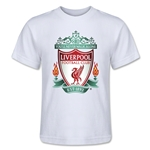 Liverpool Crest Kids T-Shirt (White)