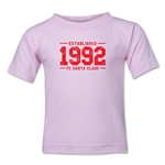 FC Santa Claus Established 1992 Kid's T-Shirt (Pink)