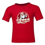 FC Santa Claus Animated Santa Kid's T-Shirt (Red)