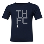 Tottenham Pixel Graphic Kids T-Shirt (Navy)