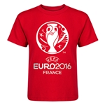 Euro 2016 Core Kid's T-Shirt (Red)