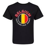 Belgium Euro 2016 Core Kid's T-Shirt (Black)