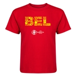 Belgium Euro 2016 Elements Kid's T-Shirt (Red)