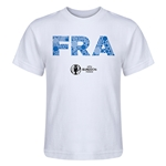 France Euro 2016 Elements Kid's T-Shirt (White)