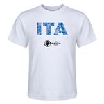 Italy Euro 2016 Elements Kid's T-Shirt (White)