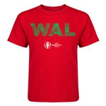 Wales Euro 2016 Elements Kid's T-Shirt (Red)