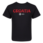 Croatia Euro 2016 Core Kid's T-Shirt (Black)