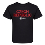 Czech Republic Euro 2016 Core Kid's T-Shirt (Black)