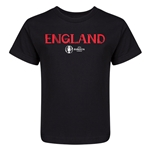 England Euro 2016 Core Kid's T-Shirt (Black)