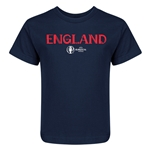 England Euro 2016 Core Kid's T-Shirt (Navy)