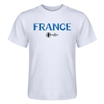 France Euro 2016 Core Kid's T-Shirt (White)