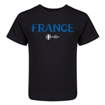 France Euro 2016 Core Kid's T-Shirt (Black)
