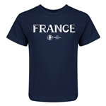 France Euro 2016 Core Kid's T-Shirt (Navy