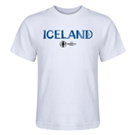Iceland Euro 2016 Core Kid's T-Shirt (White)