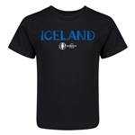 Iceland Euro 2016 Core Kid's T-Shirt (Black)