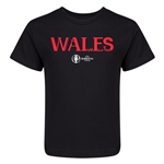 Wales Euro 2016 Core Kid's T-Shirt (Black)