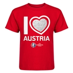 Austria Euro 2016 Heart Kid's T-Shirt (Red)