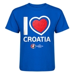 Croatia Euro 2016 Heart Kid's T-Shirt (Royal)