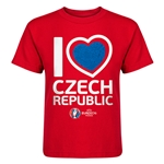 Czech Republic Euro 2016 Heart Kid's T-Shirt (Red)