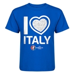 Italy Euro 2016 Heart Kid's T-Shirt (Royal)