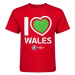 Wales Euro 2016 Heart Kid's T-Shirt (Red)