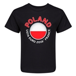 Poland Euro 2016 Fashion Kid's T-Shirt (Black)