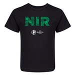 Northern Ireland Euro 2016 Elements Kid's T-Shirt (Black)