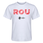 Romania Euro 2016 Elements Kid's T-Shirt (White)