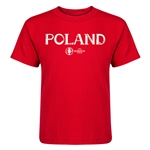 Poland Euro 2016 Core Kid's T-Shirt (Red)