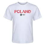 Poland Euro 2016 Core Kid's T-Shirt (White)