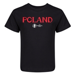 Poland Euro 2016 Core Kid's T-Shirt (Black)