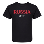Russia Euro 2016 Core Kid's T-Shirt (Black)