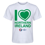 Northern Ireland Euro 2016 Heart Kid's T-Shirt (White)