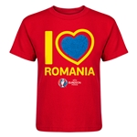 Romania Euro 2016 Heart Kid's T-Shirt (Red)