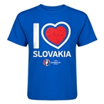 Slovakia Euro 2016 Heart Kid's T-Shirt (Royal)