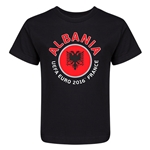 Albania Euro 2016 Fashion Kid's T-Shirt (Black)