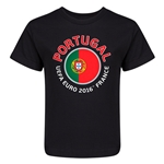 Portugal Euro 2016 Fashion Kid's T-Shirt (Black)