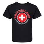 Switzerland Euro 2016 Fashion Kid's T-Shirt (Black)
