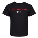 Switzerland Euro 2016 Core Kid's T-Shirt (Black)