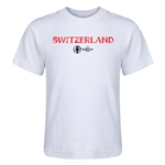 Switzerland Euro 2016 Core Kid's T-Shirt (White)