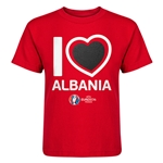 Albania Euro 2016 Heart Kid's T-Shirt (Red)