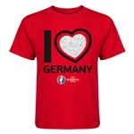 Germany Euro 2016 Heart Kid's T-Shirt (Red)