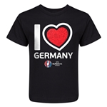 Germany Euro 2016 Heart Kid's T-Shirt (Black)