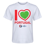 Portugal Euro 2016 Heart Kid's T-Shirt (White)