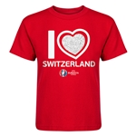 Switzerland Euro 2016 Heart Kid's T-Shirt (Red)