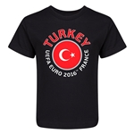 Turkey Euro 2016 Fashion Kid's T-Shirt (Black)
