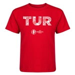 Turkey Euro 2016 Elements Kid's T-Shirt (Red)